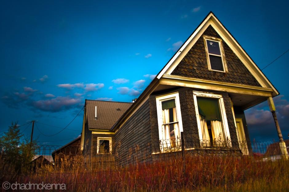Abandoned House at Dusk.