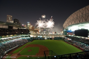 Fireworks at Minute Maid Park