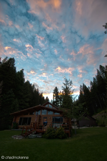Old HDR pic of our cabin in Montana