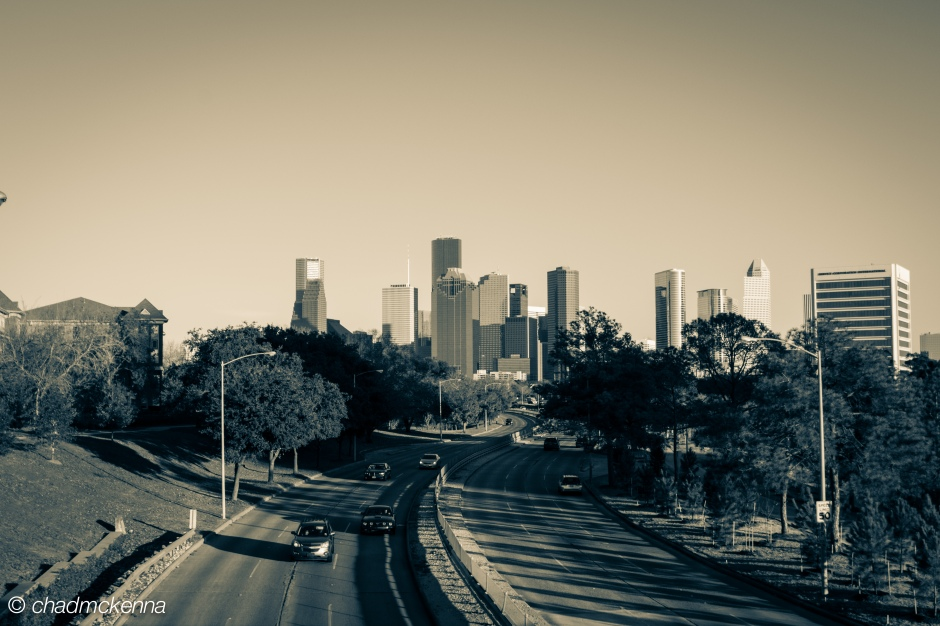 Hipster shot of downtown Houston.