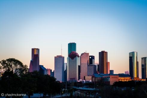 HDR (High Dynamic Range) Photo of Downtown Houston