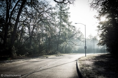 Entrance to Memorial Park in Houston