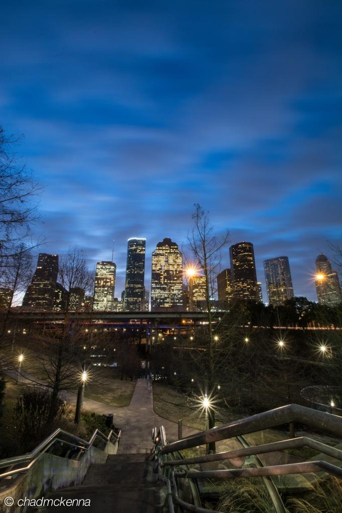 Downtown Houston shot from Sabine Street Bridge