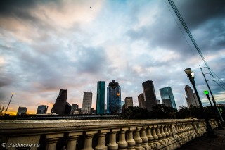 Downtown Houston HDR shot from Sabine Street Bridge
