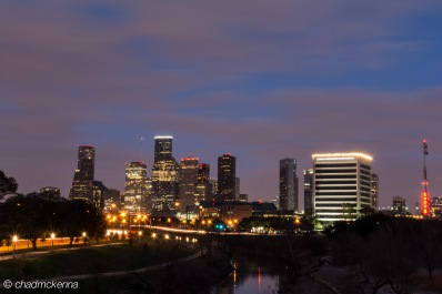 Long Exposure of Downtown Houston