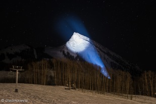 Crested Butte Resort lit up