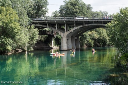 Bridge near Barton Springs Pool in Austin, TX