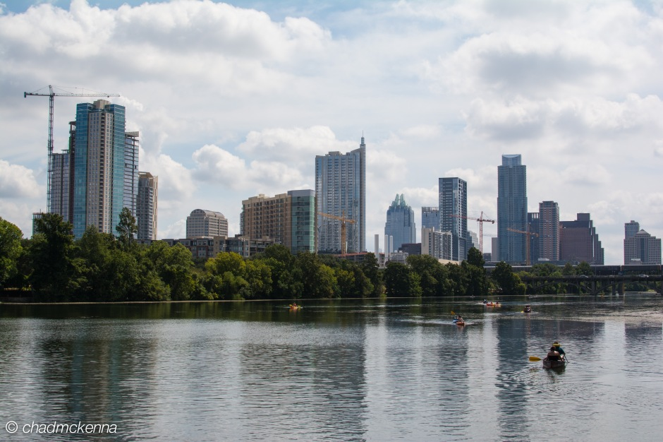 Single frame shot of downtown Austin, TX