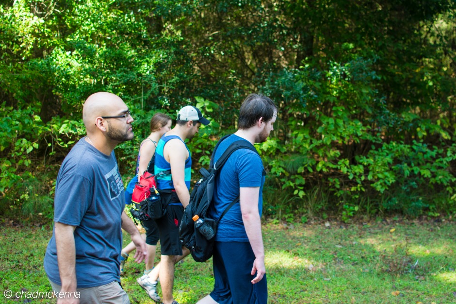 Hiking with the group