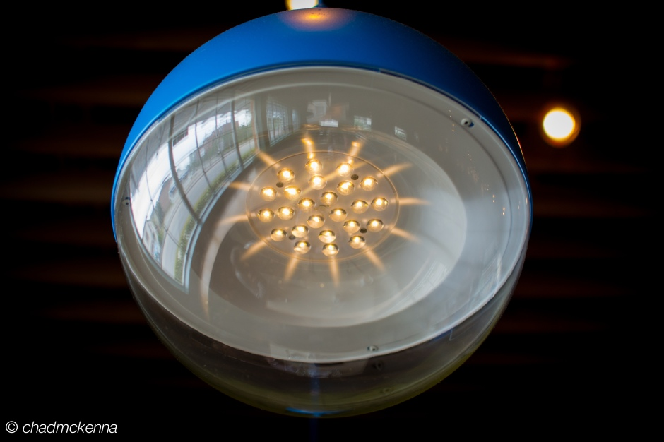 Abstract photo of a light at Benjy's