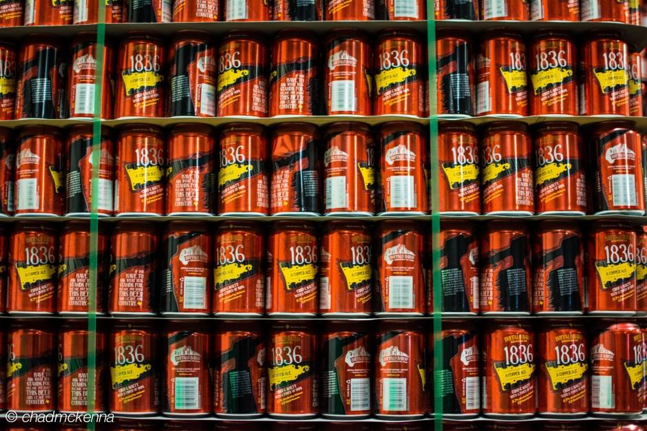 So much beer! At Buffalo Bayou Brewery